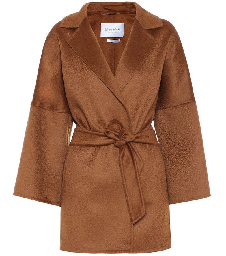Max Mara Angizi double-face cashmere coat in brown