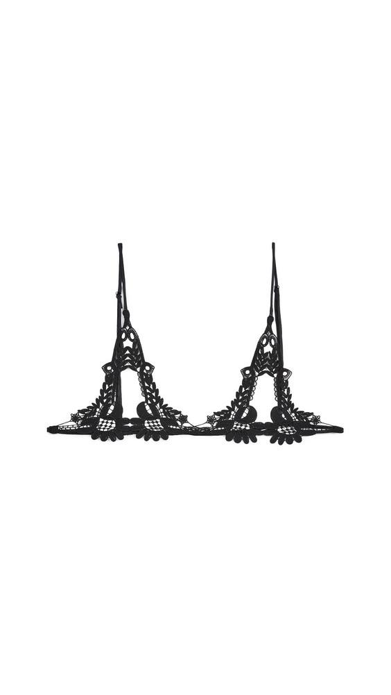 Kiki De Montparnasse Lace Ouvert Soft Bra in black