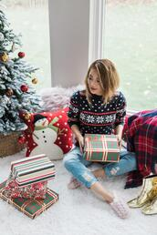 not jess fashion,blogger,sweater,jeans,shoes,christmas sweater,christmas