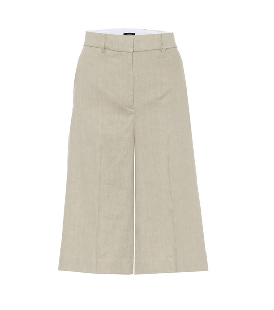 Joseph Wide-leg linen-blend shorts in beige