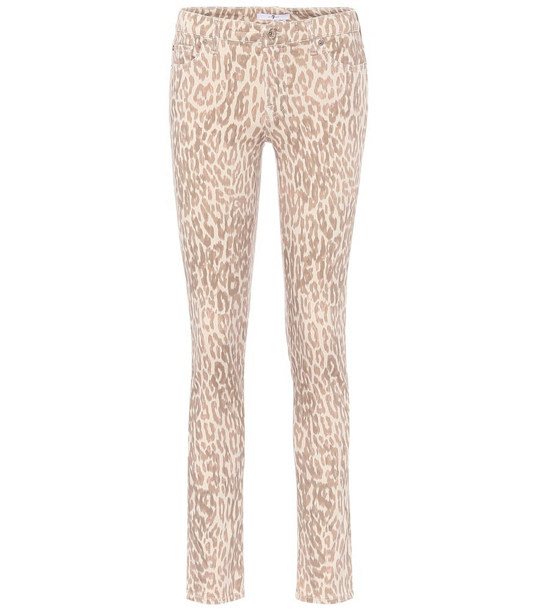7 For All Mankind Pyper mid-rise skinny jeans in beige