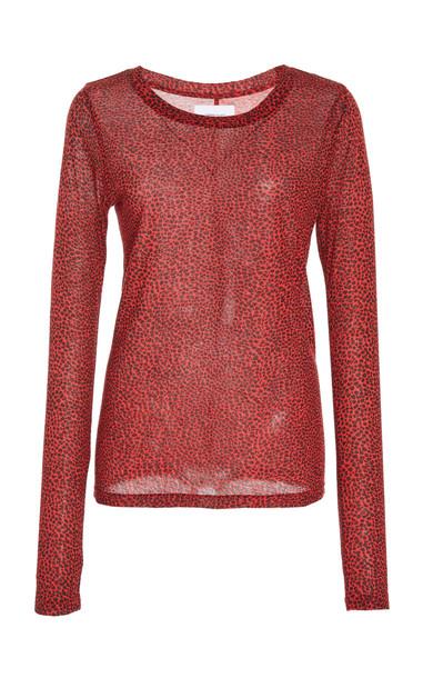 Current/Elliott Hallan Leopard-Print Cotton Top Size: 2