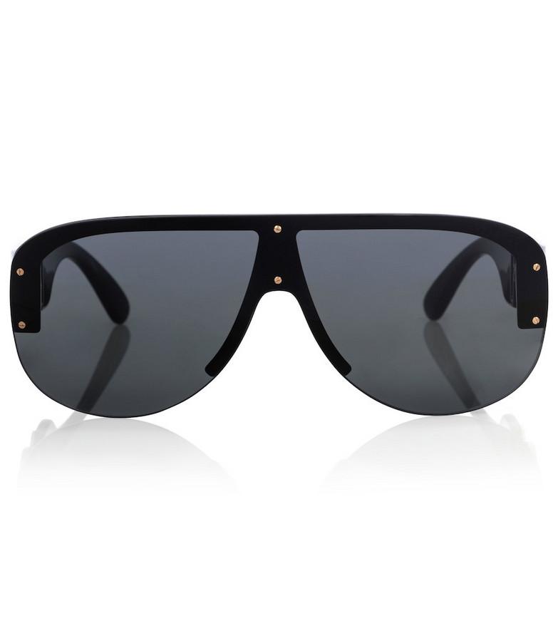 Versace Medusa flat-brow sunglasses in black