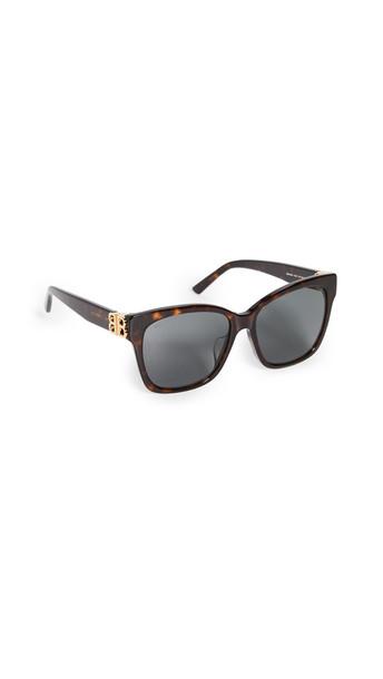 Balenciaga Dynasty Vintage Square Sunglasses in gold / green