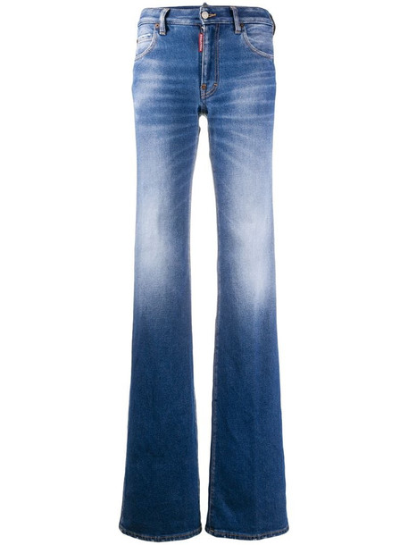 Dsquared2 mid-rise bootcut jeans in blue