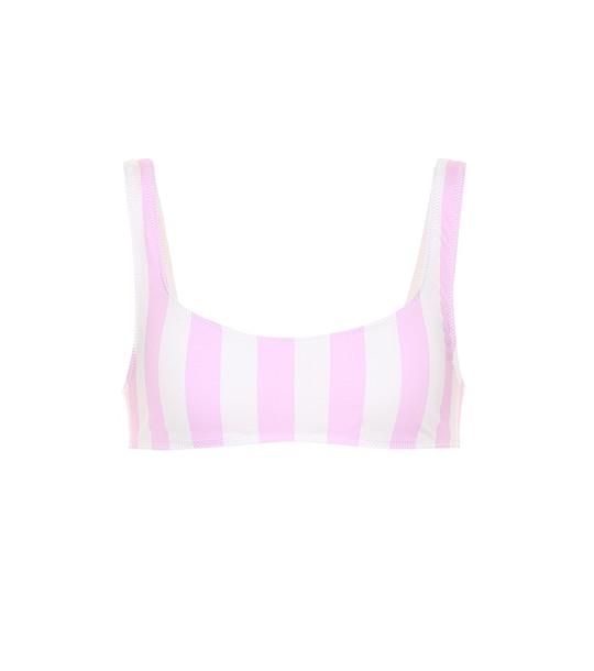 Solid & Striped Elle striped bikini top in pink