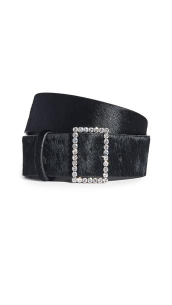 Luv Aj The Crystal Bucket Belt in black / silver