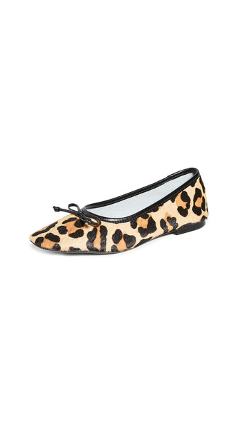 Schutz Arissa Flats in black / natural