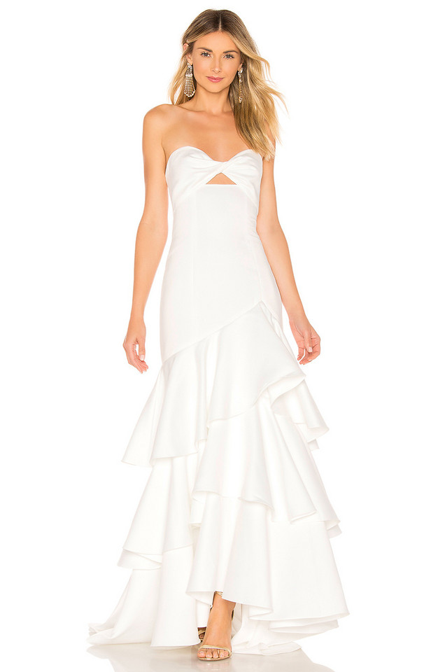 Jay Godfrey Harvey Gown in white