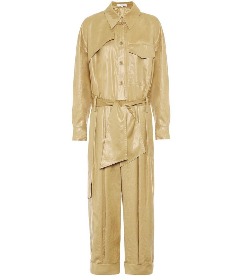 Tibi Liquid Drape jumpsuit in beige