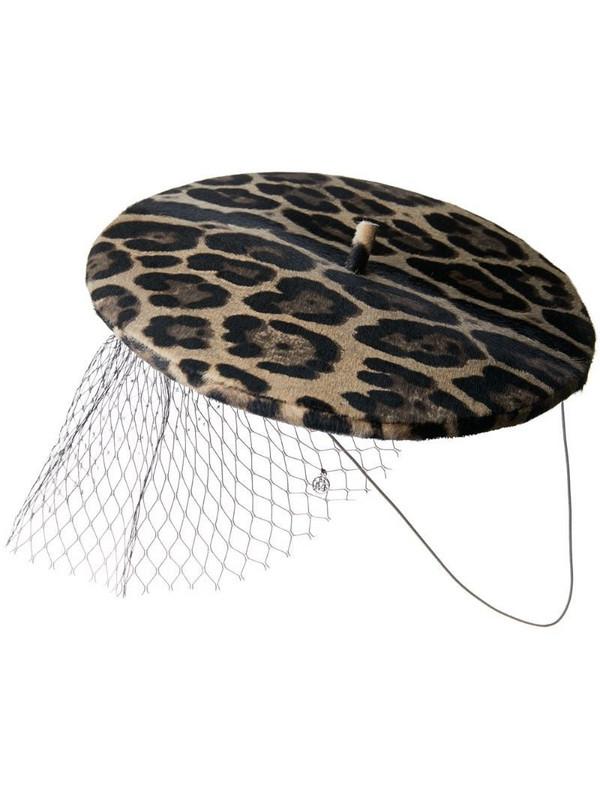 Maison Michel Idaho veil hat in brown