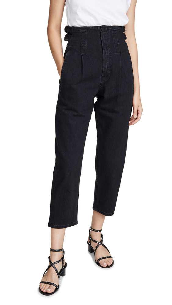 Colovos Buckle Pants in black