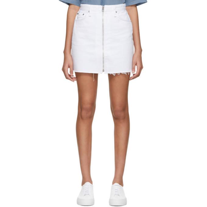 rag and bone rag & bone White Denim Anna Miniskirt