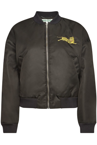 Kenzo Embroidered Bomber Jacket  in black