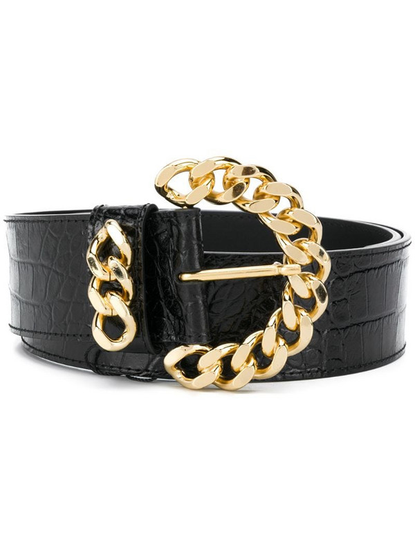 Kate Cate chunky chain-link belt in black