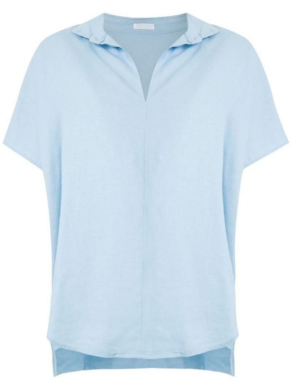 Osklen short sleeves loose shirt in blue