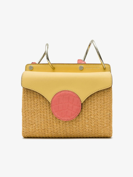 Danse Lente Yellow and Pink Phoebe Cross Body Leather Bag