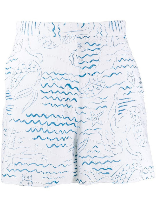 Kenzo Wave Mermaids short in white