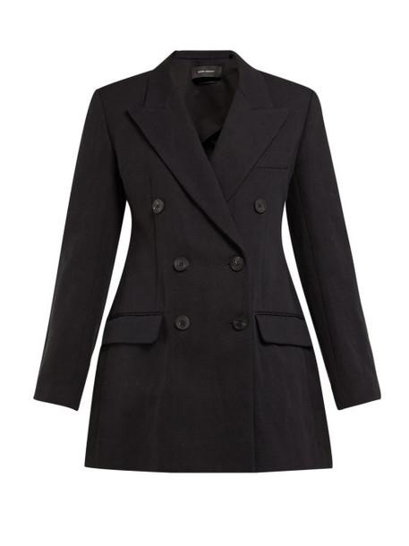 blazer double breasted cotton black jacket