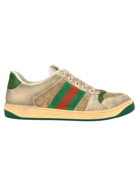 Gucci Virtus Gg New Sneaker in green / white / beige