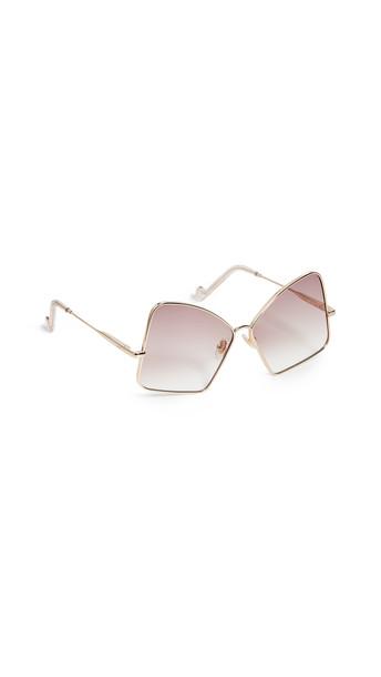 Zimmermann Empire Sunglasses in brown / gold