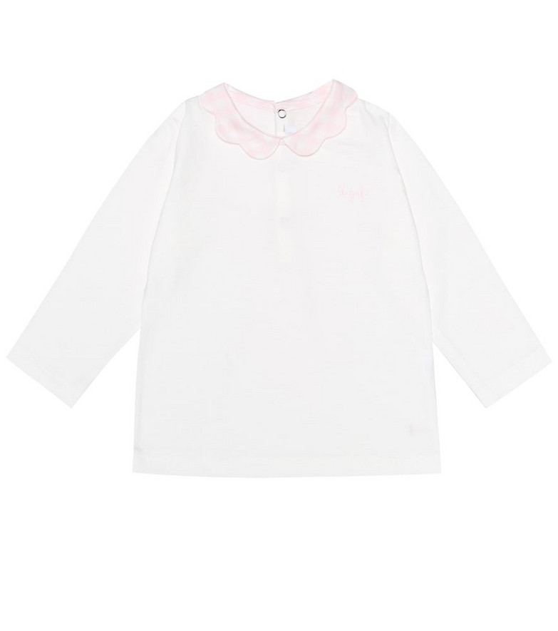 Il Gufo Baby long-sleeved cotton top in white