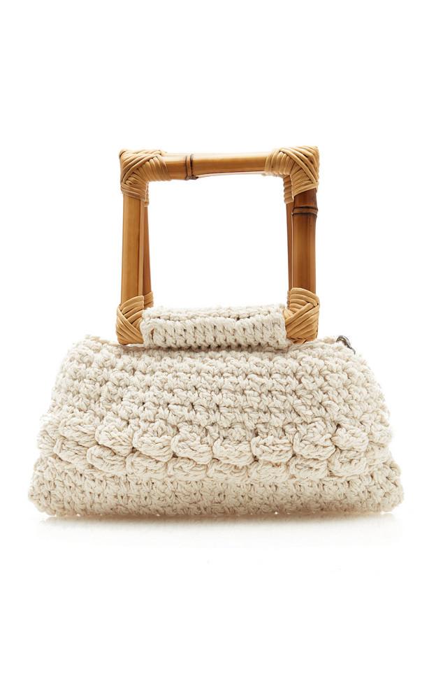 Nannacay Ebano Macrame Top Handle Bag in neutral