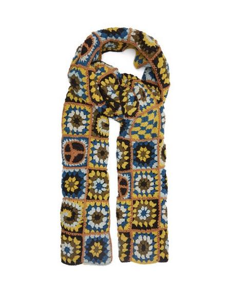 Story mfg. Story Mfg. - Piece Xl Crocheted Organic-cotton Scarf - Womens - Green Multi