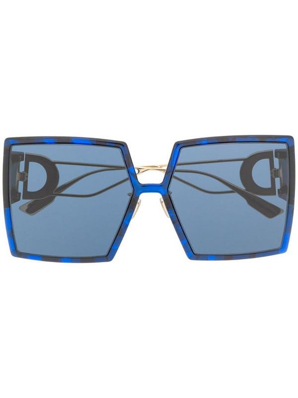 Dior Eyewear square-frame oversized sunglasses in blue