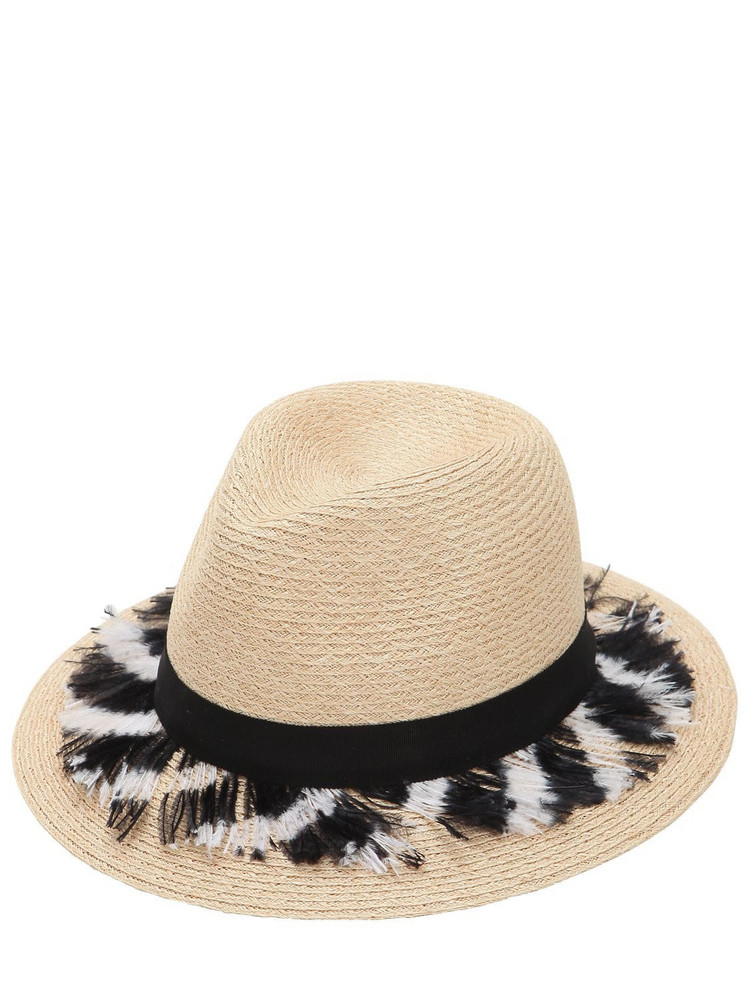 EUGENIA KIM Lillan Hat W/ Feathers in natural