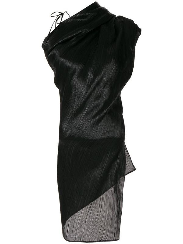 Roland Mouret Lyan Lame blouse in black