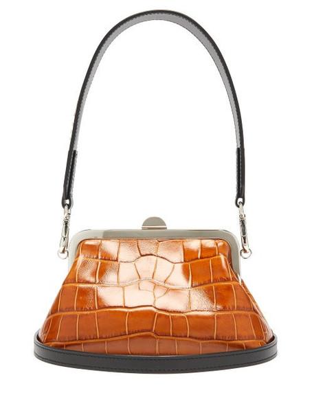 Marques'almeida - Mini Crocodile-effect Leather Bag - Womens - Tan