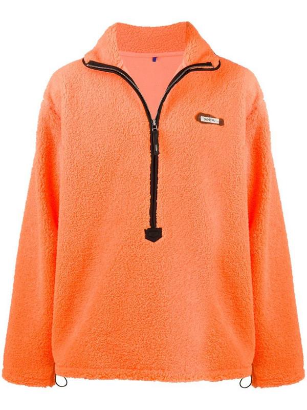 Ader Error faux shearling anorak jacket in orange