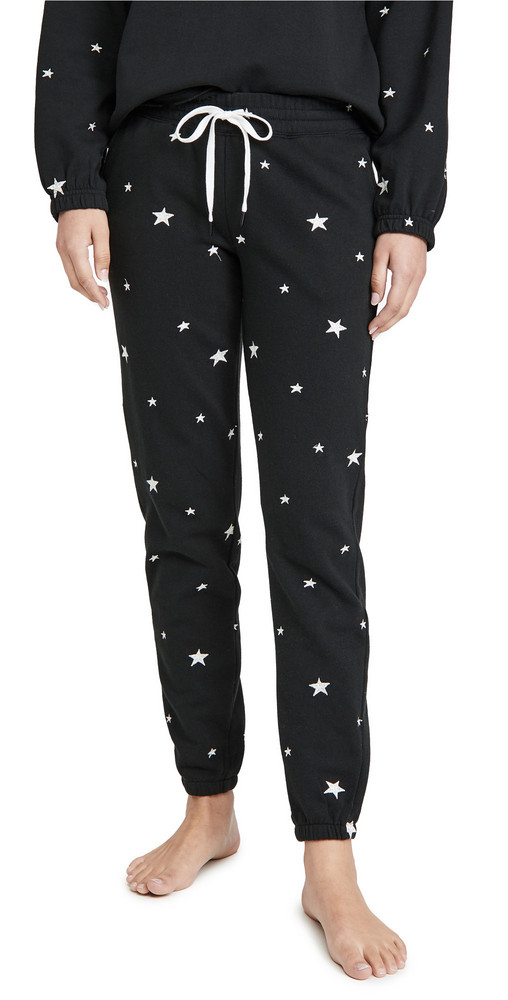 PJ Salvage Daily Doodle Band Pants in black