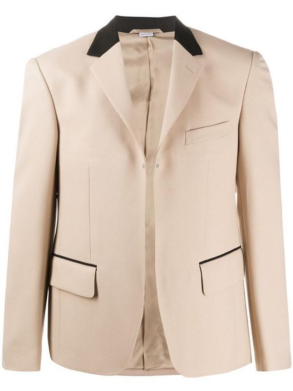 Random Identities two-tone open front blazer in neutrals