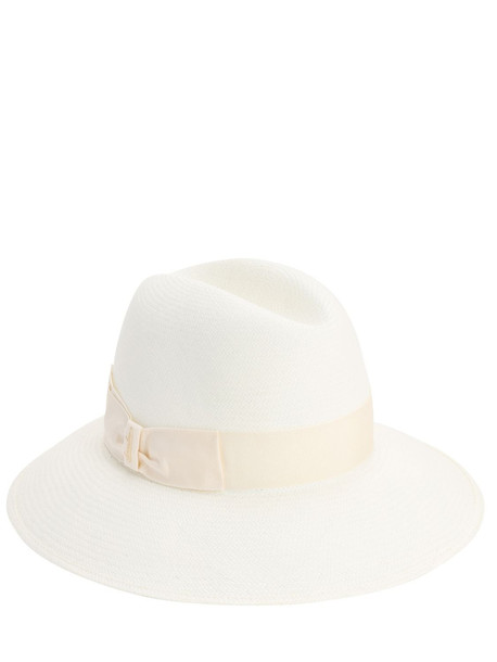 BORSALINO Claudette Fine Straw Panama Hat in white