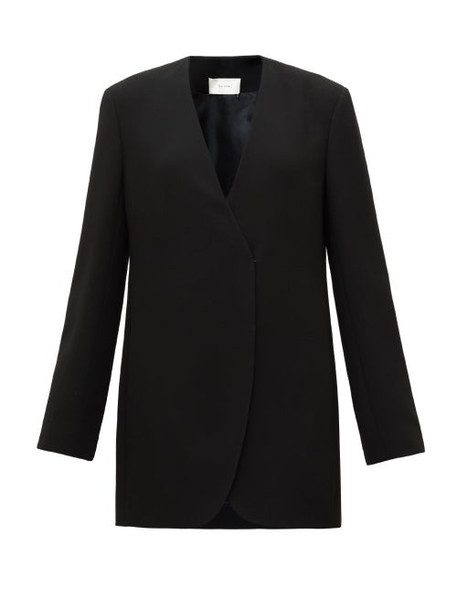 The Row - Liza Longline Wrap Jacket - Womens - Black