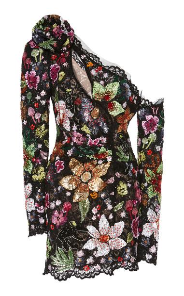 Dundas One-Shoulder Sequin Mini Dress