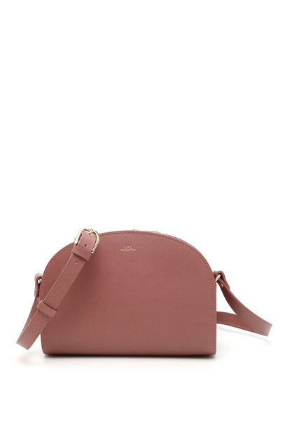 A.P.C. A.P.C. Demi Lune Crossbody Bag in rose