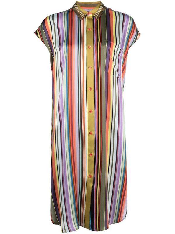 PS Paul Smith satin-style vertical stripe shirt dress in purple