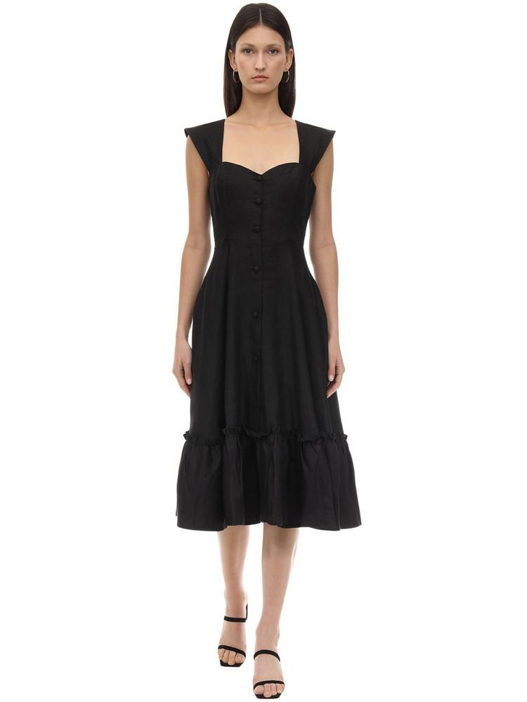 GIOIA BINI Camilla Linen Dress in black