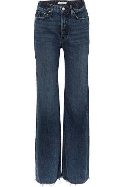 GRLFRND - Carla High-rise Wide-leg Jeans - Dark denim