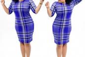 dress,plaid,plaid dress,blue,white,plus size