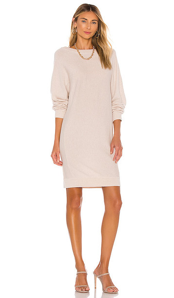 Vince Dolman Sleeve Dress in Beige