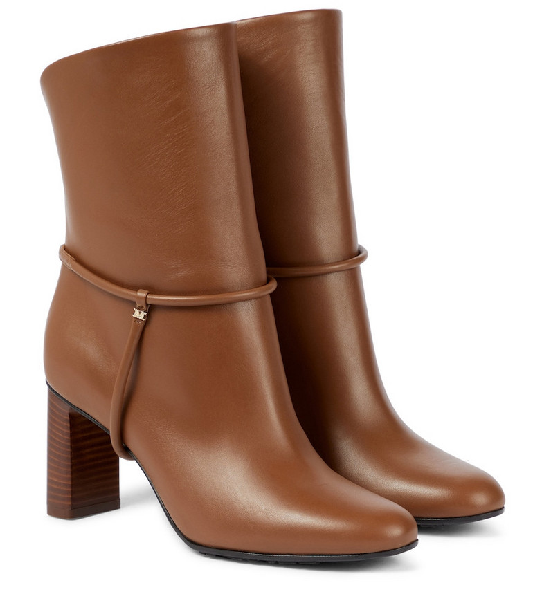 Max Mara Arleen leather ankle boots in brown