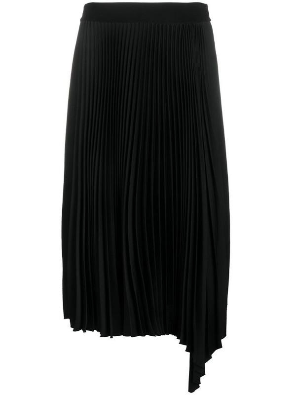 Joseph asymmetric pleated skirt in black