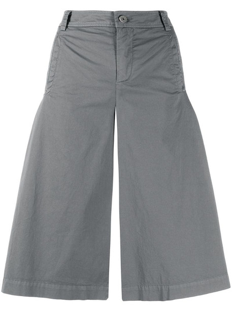 Mr & Mrs Italy wide-leg cropped trousers in grey