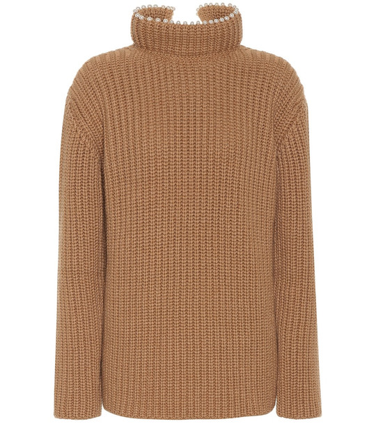 Loewe Embellished cashmere sweater in beige