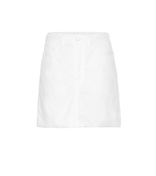 MM6 Maison Margiela Cotton miniskirt in white