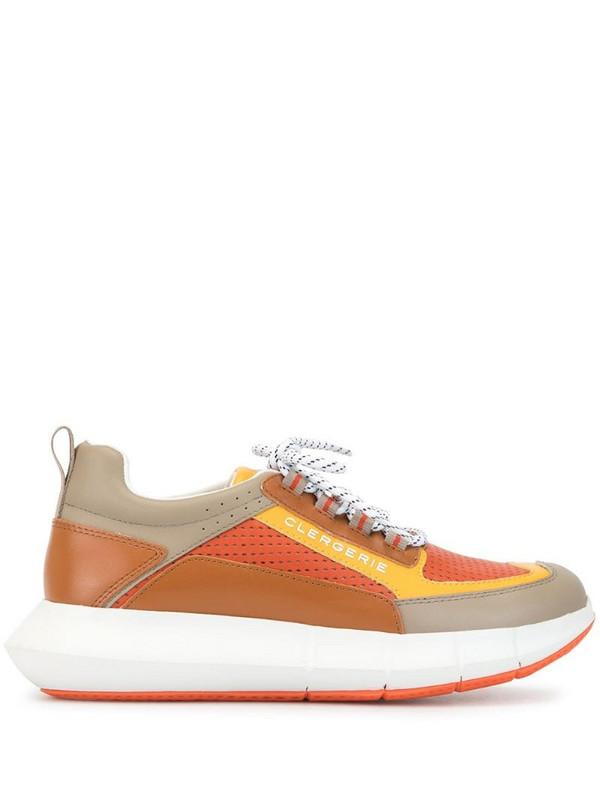 Clergerie Sea platform low-top sneakers in orange